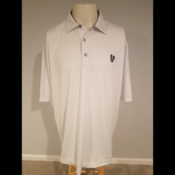 FootJoy Other - Footjoy S/S White Collared Golf Polo Shirt Size XL